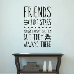 friends are like stars wall art sticker quote h550k best 25 living room quotes ideas on pinterest