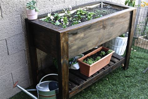raised planter box white raised planter box diy projects