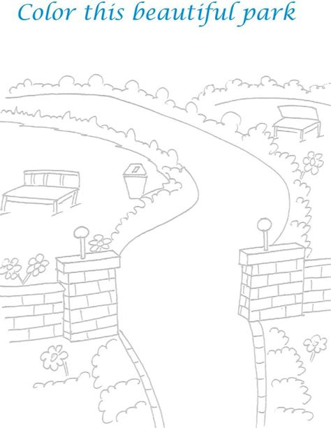 scenery for small coloring pages