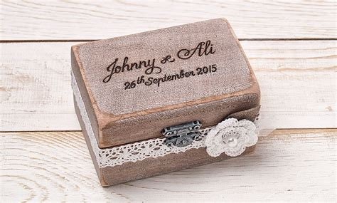 Wedding Ring Box Uk by Ring Bearer Box Wedding Ring Box Personalized Ring Box Rustic