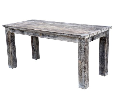 Rustic White Dining Table by Slim Mango Wood Dining Table Rustic White Wash Finish