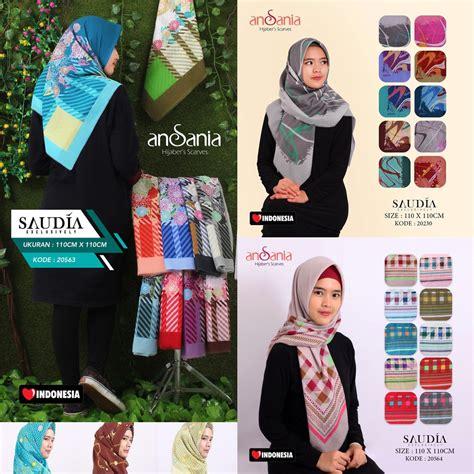 Segi Empat Print saudia print ansania jilbab kerudung scarf segi