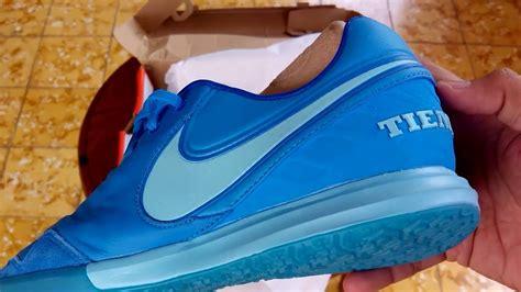 Sepatu Futsal Nike Tiempox Proximo Blue Coastal sepatu futsal nike tiempox proximo ic blue glow 843961 444