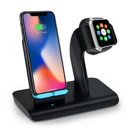 aspectek fast wireless charger qi wireless charging pad stand for iphone xs iphone x iphone xr