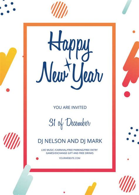 year flyer templates psd eps indesign word