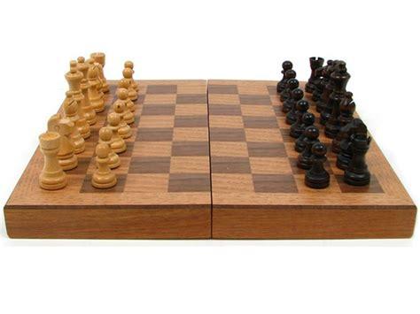 chess board walnut book style with staunton chessmen brown wood book style chess w staunton men