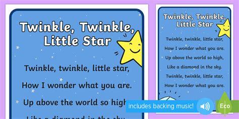 full version twinkle twinkle little star twinkle twinkle little star nursery rhyme poster rhyme