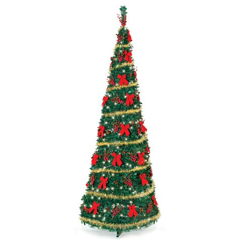 the cordless prelit pop up christmas tree 9 hammacher