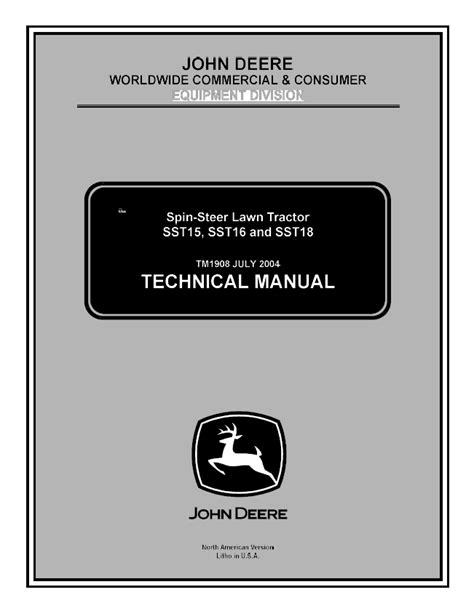 John Deere SST15, SST16, SST18 Lawn Tractor TM1908 PDF