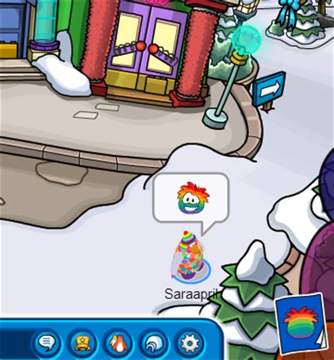 club penguin rainbow hair saraapril in club penguin puffle party 2013 items catalog