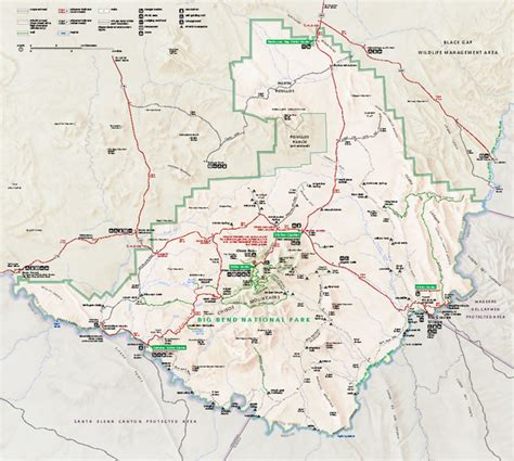 map of big bend texas big bend national park texas boy survives mountain attack