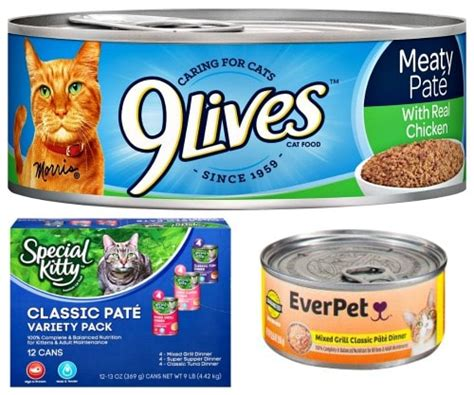 everpet food 9lives special and everpet canned cat food recall the conscious cat
