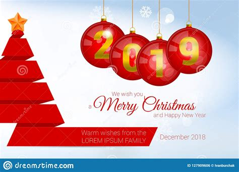 vector christmas greeting card template merry christmas  happy  year design elements