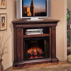 the best place for corner tv stand with fireplace home