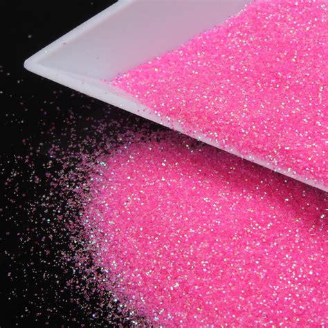 nail art glitter dust tutorial nail polish 3d glitter powder romantic sweet pink nail art