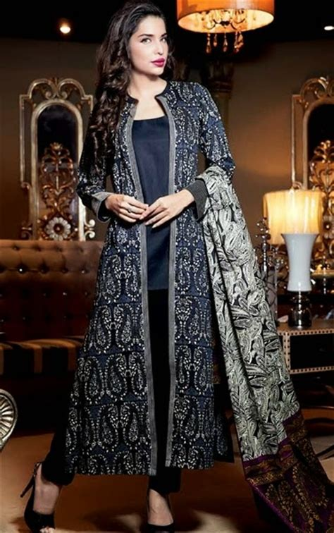 jacket design kameez gul ahmed top 14 winter trend jacket suits coat kameez