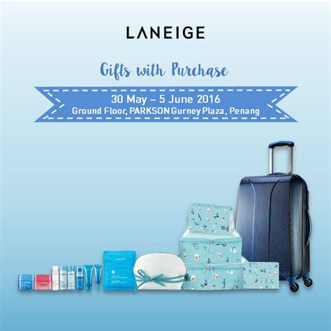 laneige free 7 pc gift set pouch