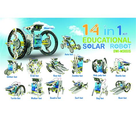 Solar Kit Robot Solar Educational 3 In 1 Robot Rakit 14 in 1 educational solar robot kit scientificsonline