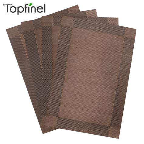 top finel 4pcs lot pvc decorative vinyl placemats for dining table runner linen place mat in