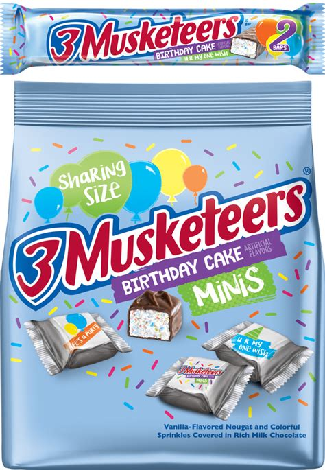 birthday cake flavor new 3 musketeers birthday cake flavor unveiled chew boom