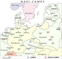 Major concentration and death camps