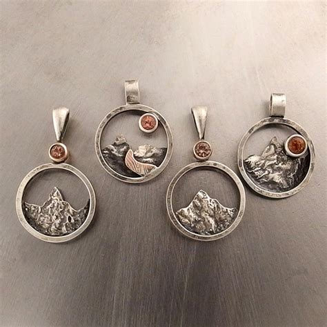 mini central oregon mountain pendant douglas jewelry design
