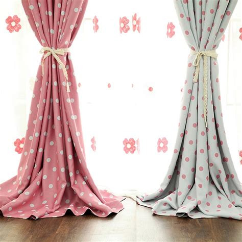 pink patterned curtains online pink polka dot curtains of polyester for room darkening