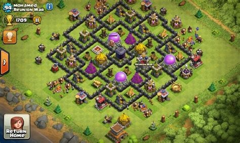 best farming base clash of clans townhall level 8 foto gambar lucu dp bbm coc