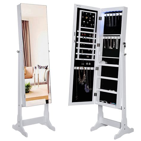 mirror and jewelry cabinet jewelry cabinet for safe storage resolve40 com