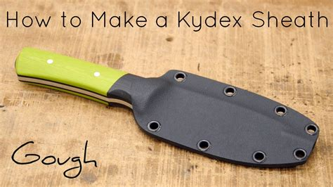 how to make a knife at home how to make a kydex knife sheath