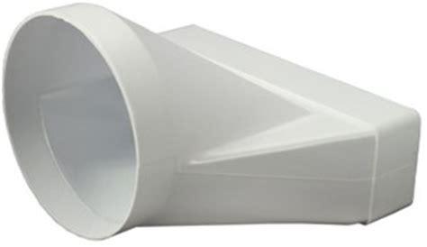praxis afvoerbuis afzuigkap rechthoekig kunststof verloop 216 125mm 220x55mm ksd25
