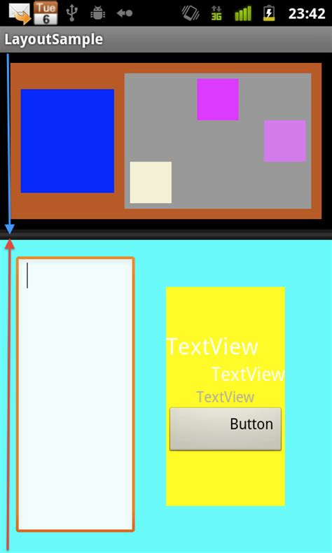 android layout weight center androidのlayoutについて techbooster