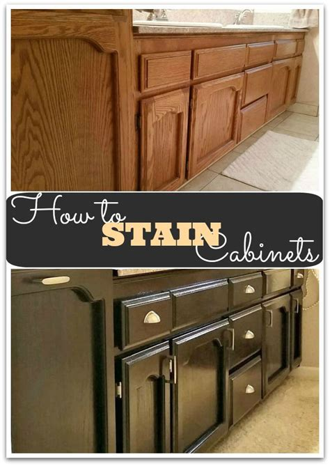 How To Stain A Kitchen Cabinet How To Gel Stain Cabinets Page 3 Of 4 She Buys He Builds