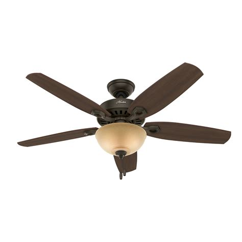 hunter ceiling fan downrod shop hunter builder deluxe 52 in new bronze indoor downrod