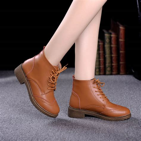 Lace Up Chunky Heel Ankle Boots tntrav s lace up chunky heel ankle boots