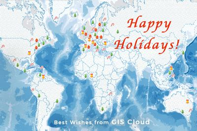 with a warm farewell to 2017, gis cloud wishes you happy