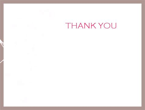 thank you card template free wedding thank you card template free
