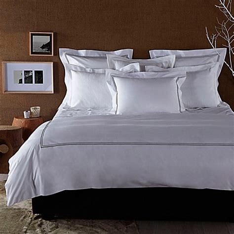 frette bedding frette at home piave duvet cover in white grey bed bath