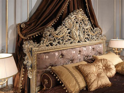 wood carving bed classic louis xv emperador gold bedroom capitonn 232