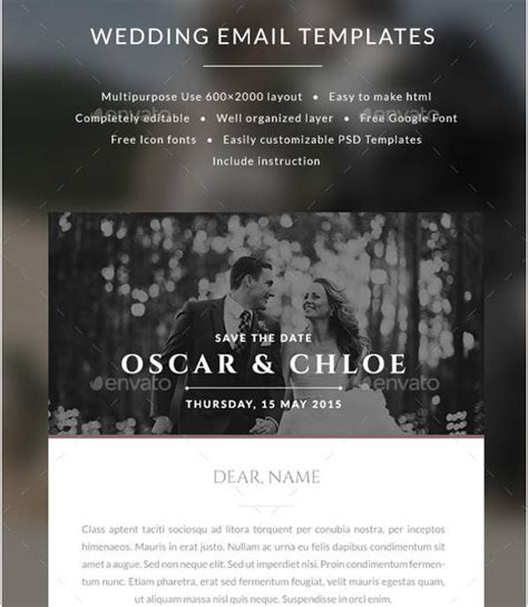 email wedding invitations templates 36 sle invitation template downloadcloud