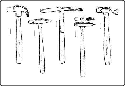 diagram of a claw hammer quot handwork in wood quot pounding and holding tools