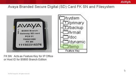 Sd Apartment Management Office Avaya Ip Office And Avaya B5800 Branch Gateway Sd Card