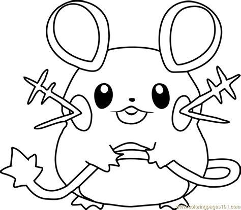 Pokemon Coloring Pages Dedenne | dedenne pokemon coloring page free pok 233 mon coloring