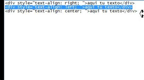 alinear imagenes horizontalmente html crear codigo html 3 alinear textos youtube