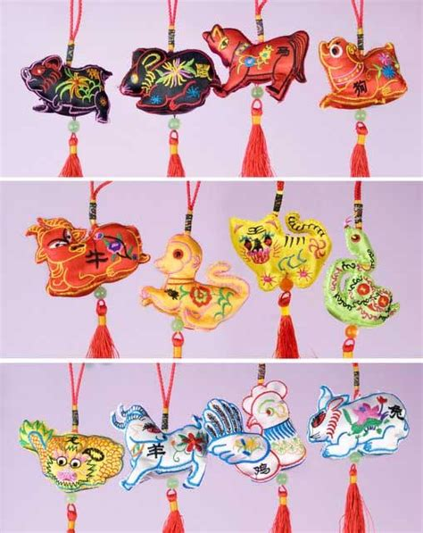 new year decoration handicraft embroidered zodiac ornaments arts crafts new