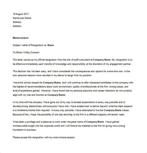 job resignation letter template word excel