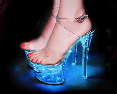 light up high heel led platform high heel