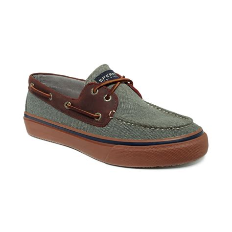 sperry top sider bahama 2eye heavy canvas boat shoes in