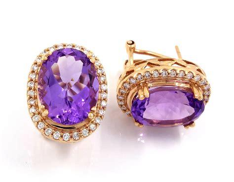buy 18k gold amethyst earrings