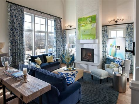 living room hgtv 2014 hgtv smart home great room the large wall of windows in this great room washes the